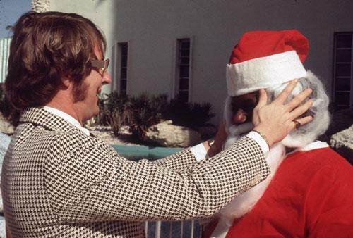 Monty Hundley Adjusts Santa's Beard
